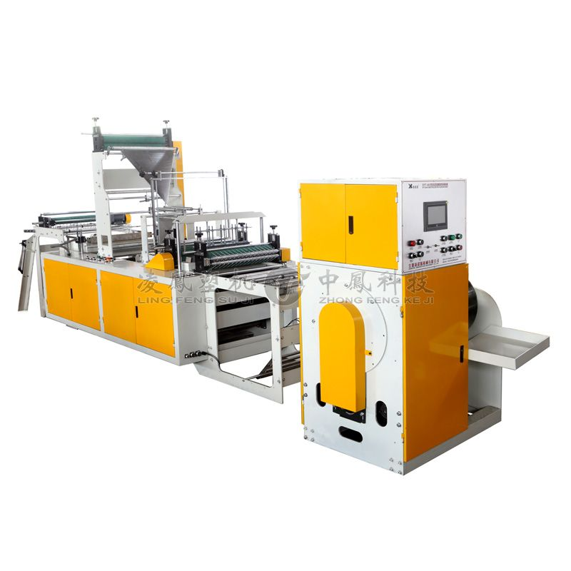 Full-automatic Single Line Double C-folding Rolling Bag Making Machine with Coreless