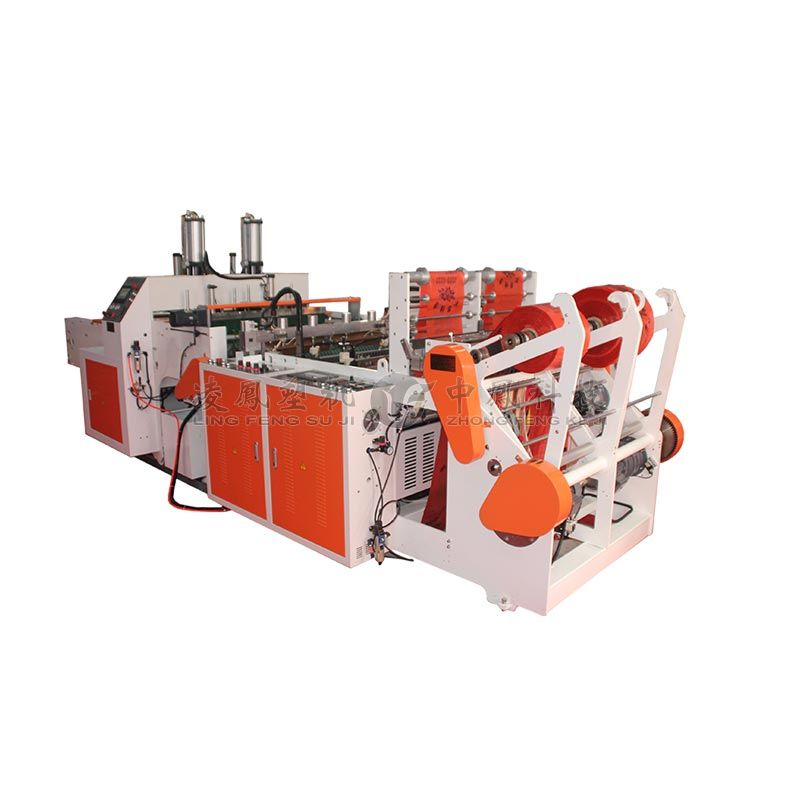 High Speed full-automatic Double Line T-shirt Bag Making Machine